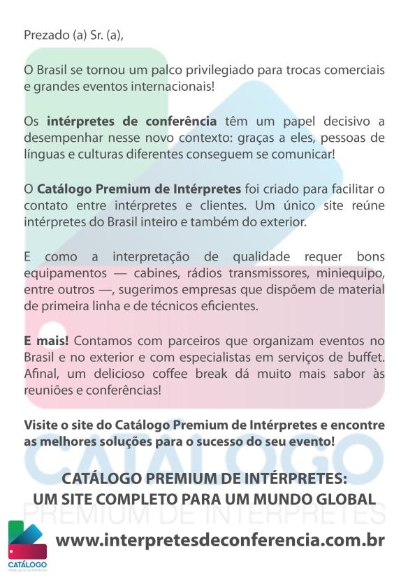 carta catálogo